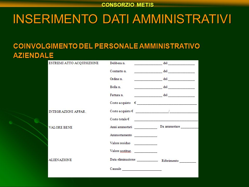 SUPPORTO INFORMATICO DEL PERSONALE METIS