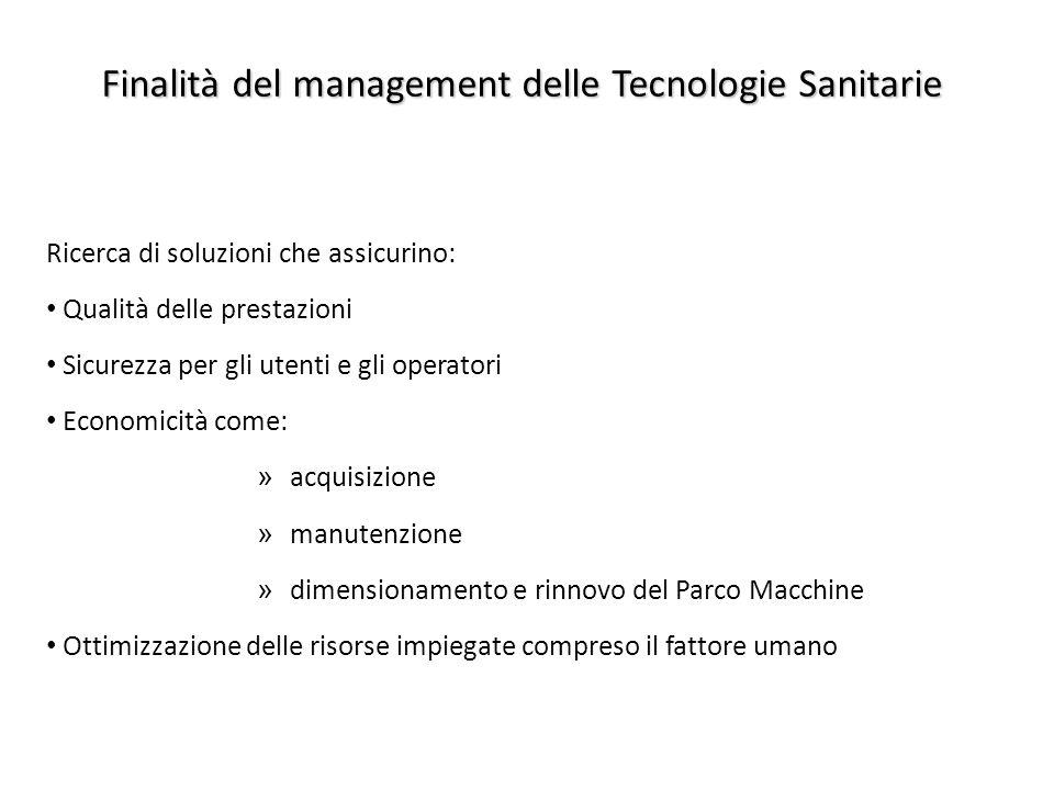 Finalità del management delle Tecnologie Sanitarie