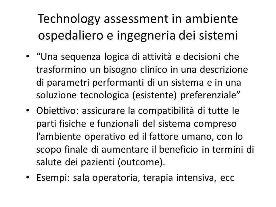 Technology assessment in ambiente ospedaliero e ingegneria dei sistemi