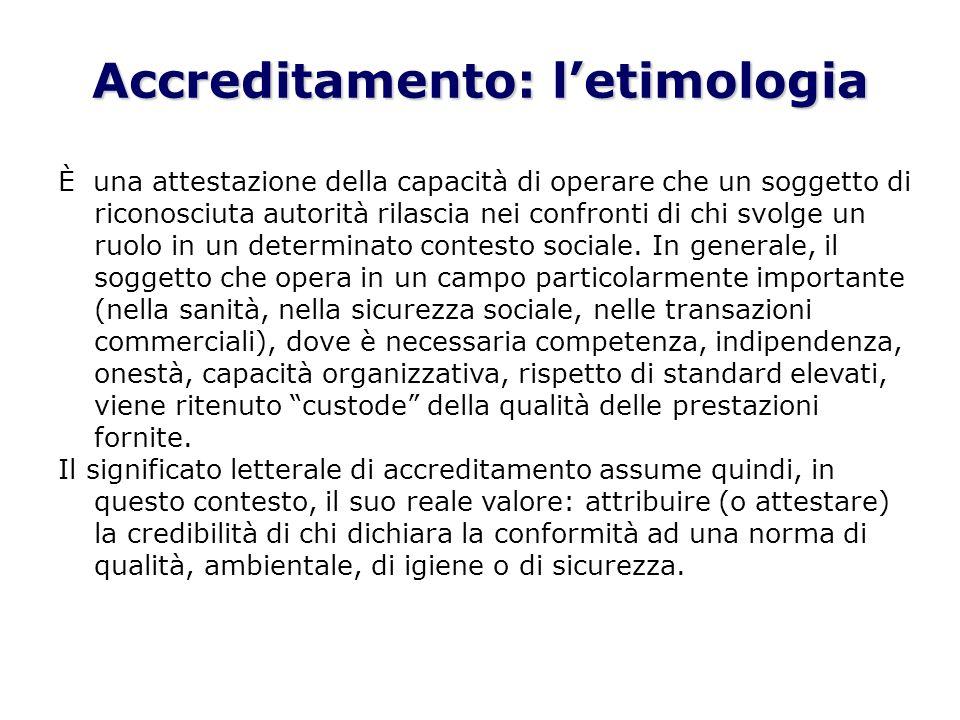 Accreditamento: l'etimologia