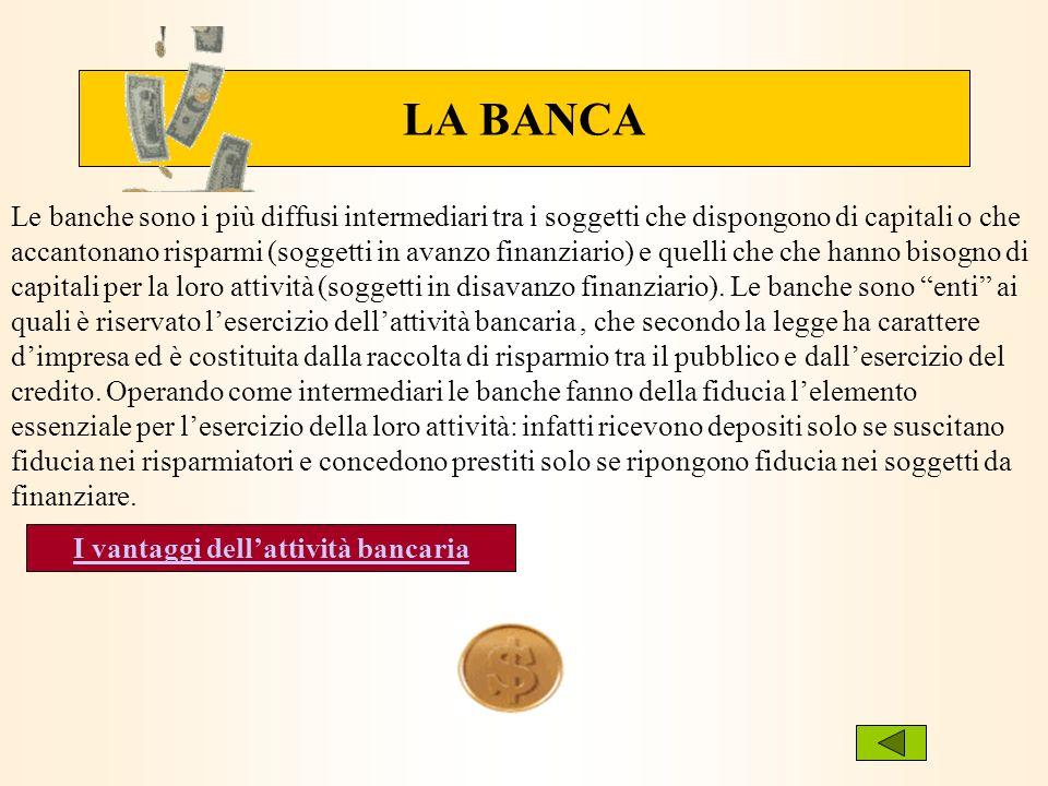 I vantaggi dell'attività bancaria