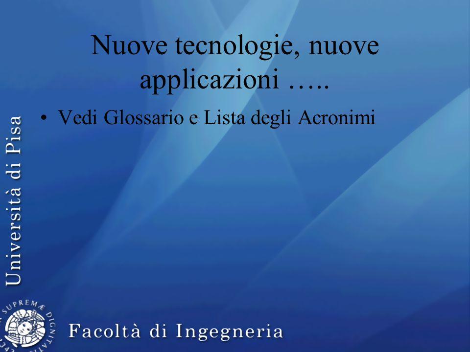 Nuove tecnologie, nuove applicazioni …..