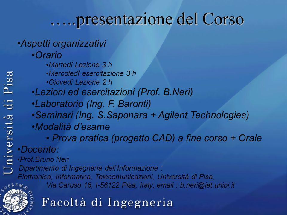 …..presentazione del Corso