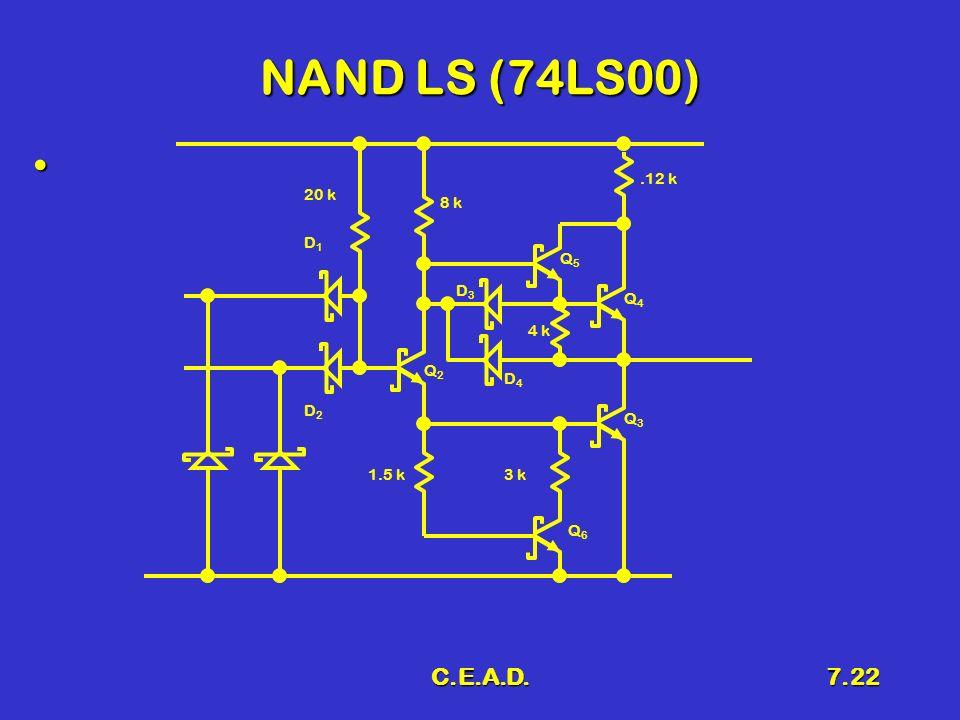 NAND LS (74LS00) C.E.A.D. .12 k 20 k 8 k D1 Q5 D3 Q4 4 k Q2 D4 D2 Q3