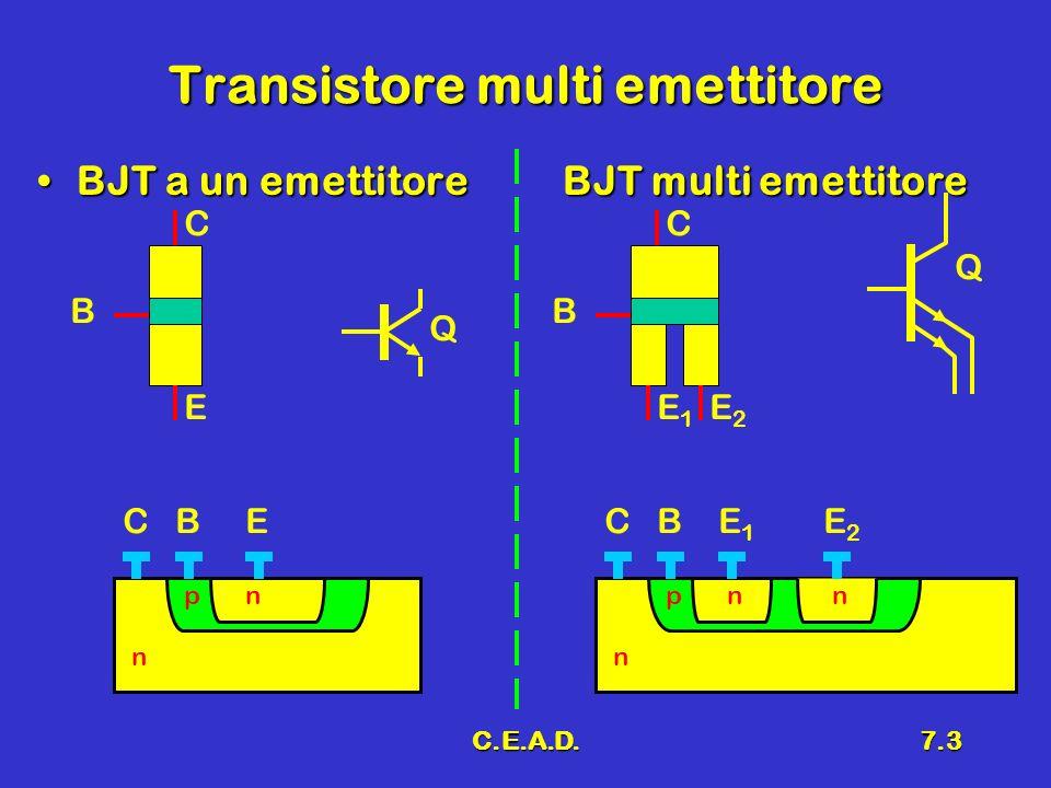 Transistore multi emettitore