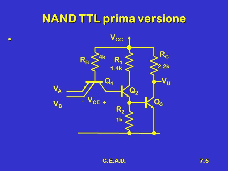 NAND TTL prima versione
