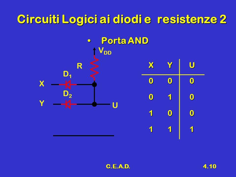 Circuiti Logici ai diodi e resistenze 2