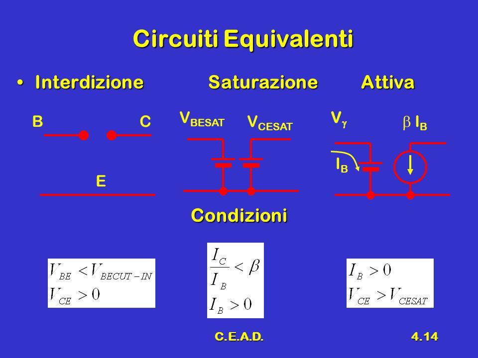 Circuiti Equivalenti Interdizione Saturazione Attiva Condizioni VBESAT