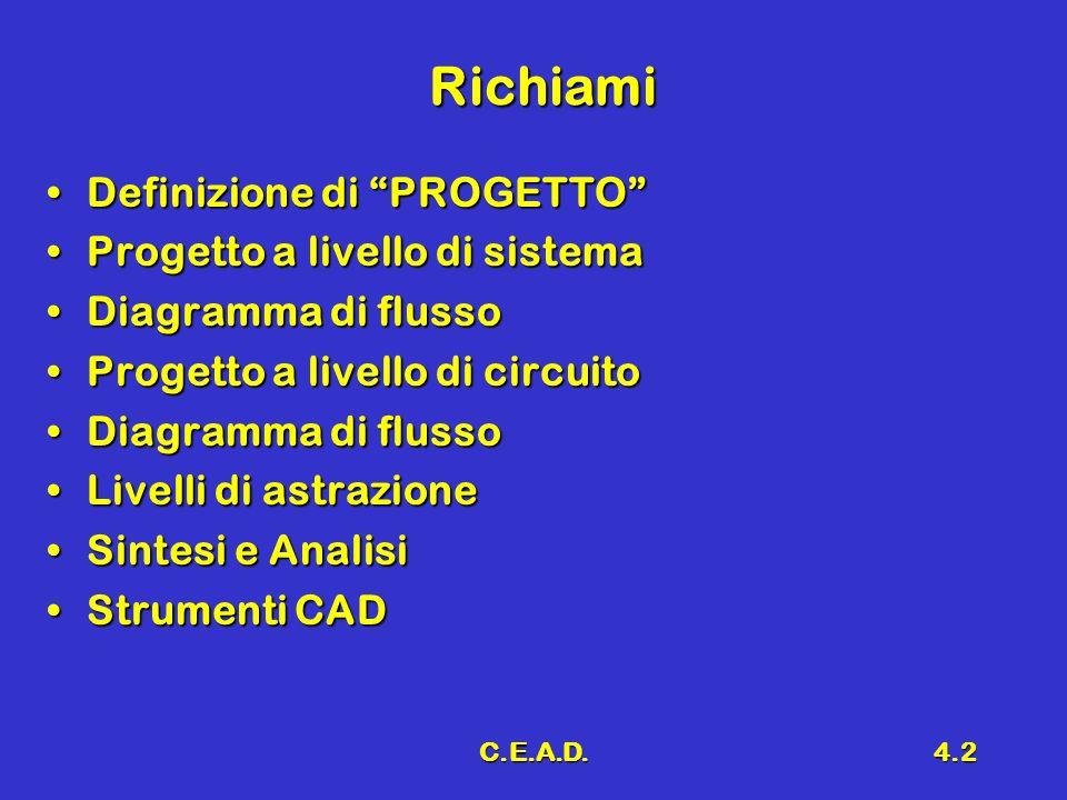 Richiami Definizione di PROGETTO Progetto a livello di sistema