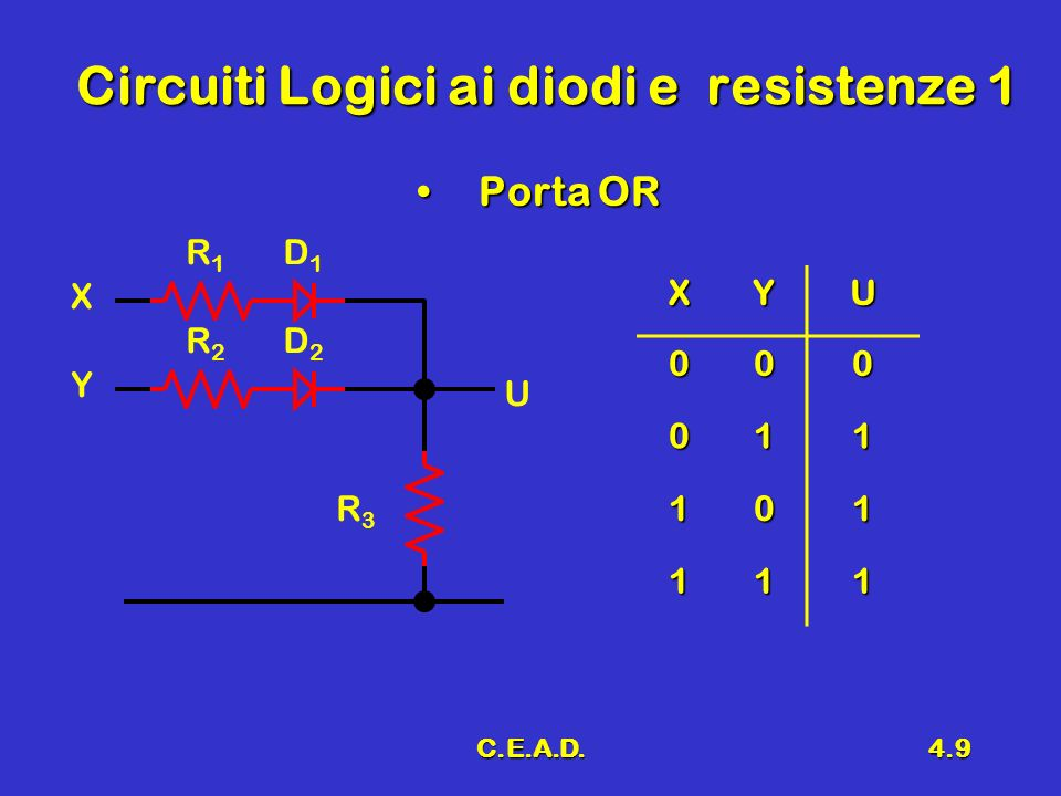 Circuiti Logici ai diodi e resistenze 1