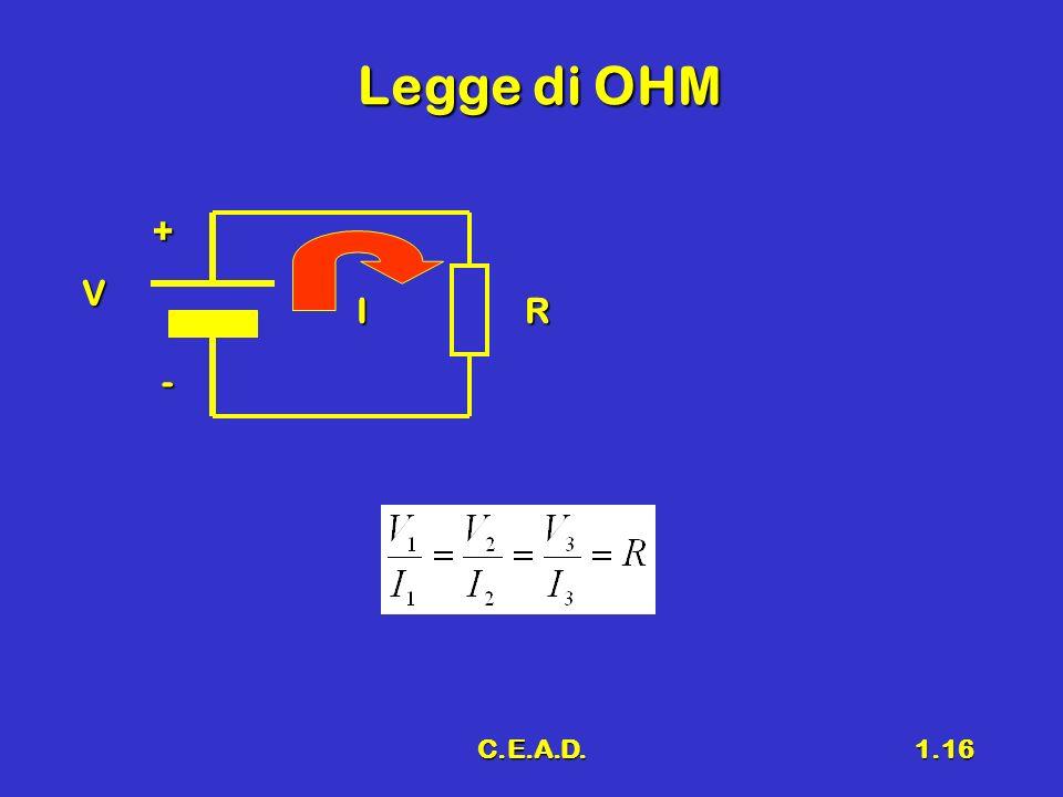 Legge di OHM + V I R - C.E.A.D.