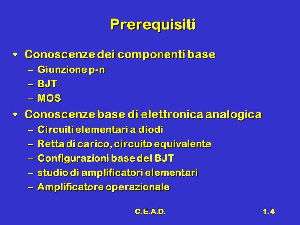 Prerequisiti Conoscenze dei componenti base
