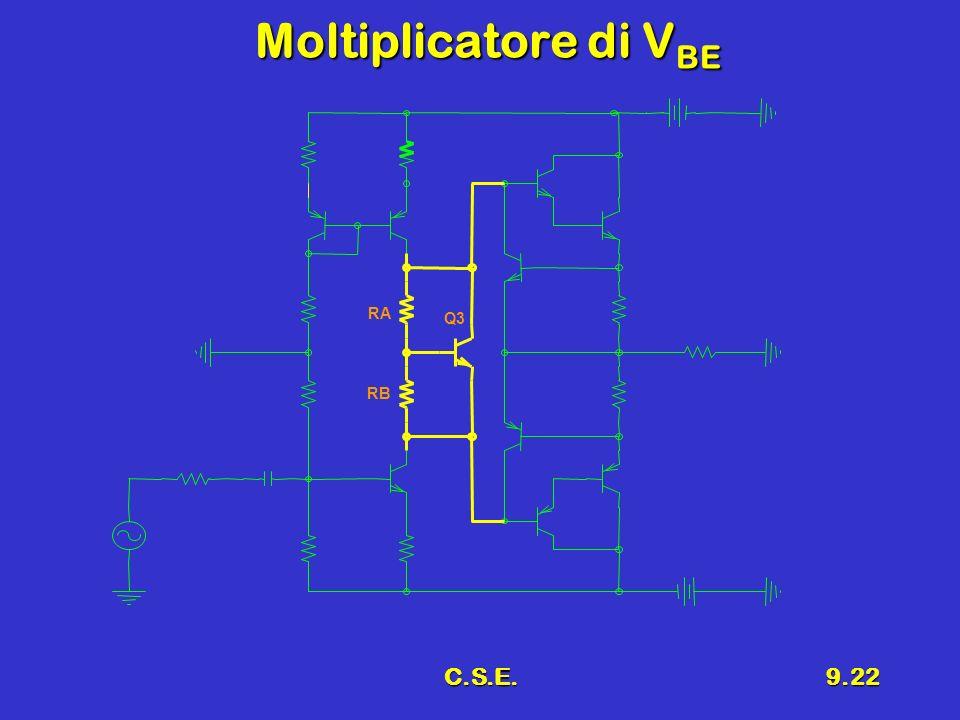 Moltiplicatore di VBE RA Q3 RB C.S.E.