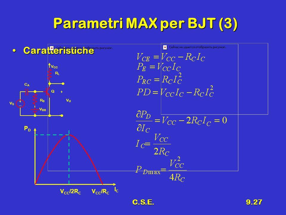 Parametri MAX per BJT (3)