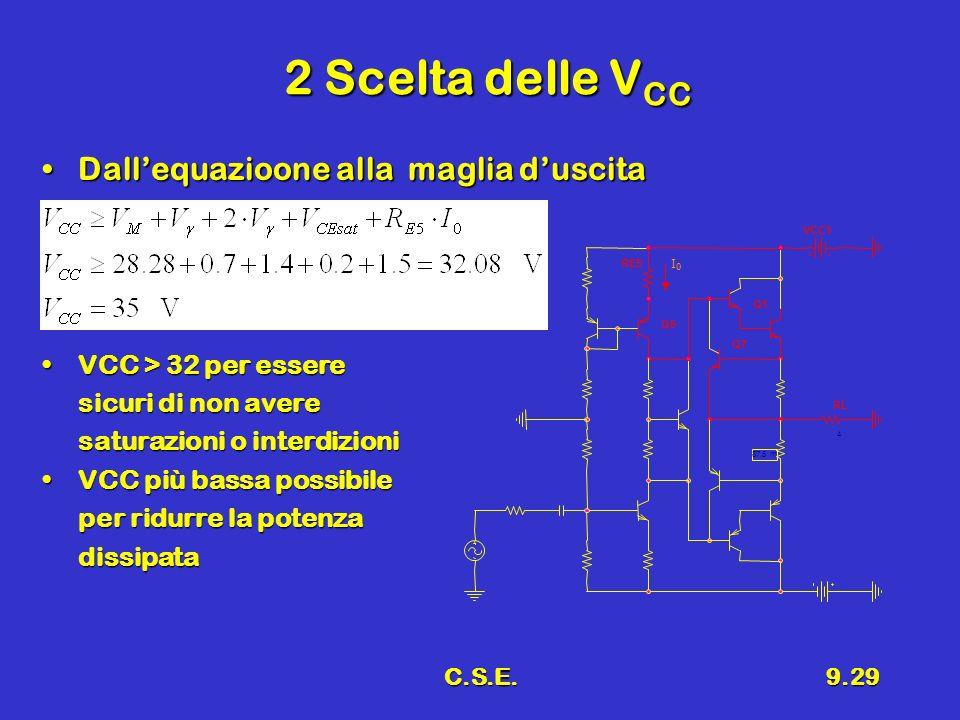 2 Scelta delle VCC Dall'equazioone alla maglia d'uscita