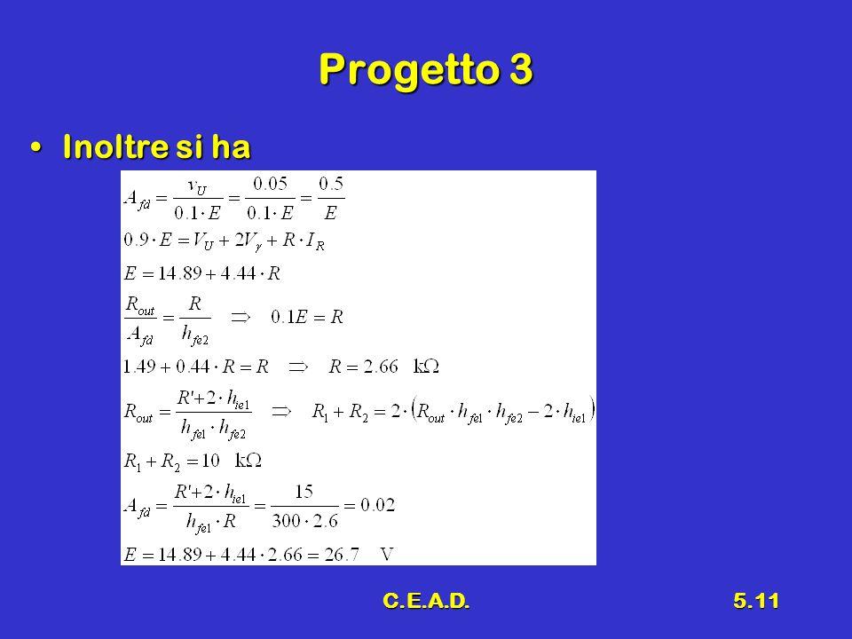 Progetto 3 Inoltre si ha C.E.A.D.