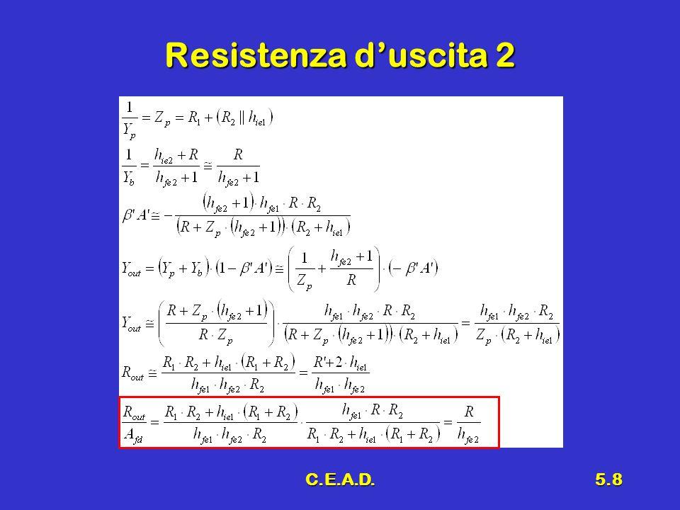 Resistenza d'uscita 2 C.E.A.D.