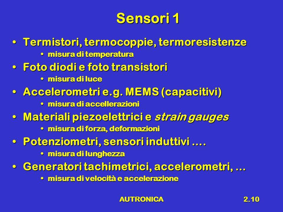 Sensori 1 Termistori, termocoppie, termoresistenze