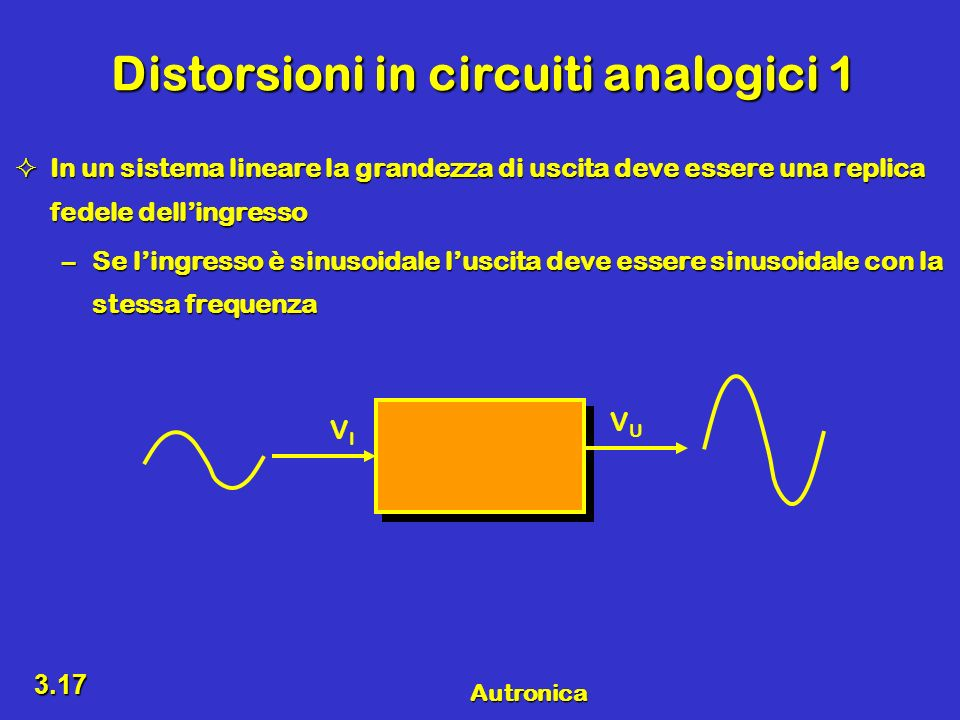 Distorsioni in circuiti analogici 1
