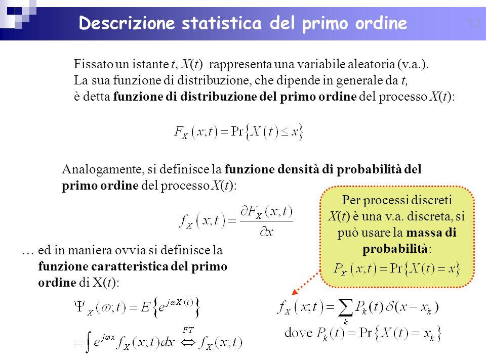 Descrizione statistica del primo ordine