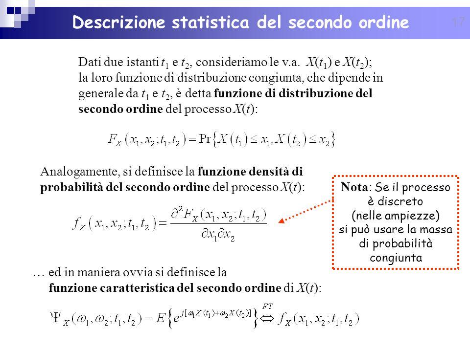 Descrizione statistica del secondo ordine