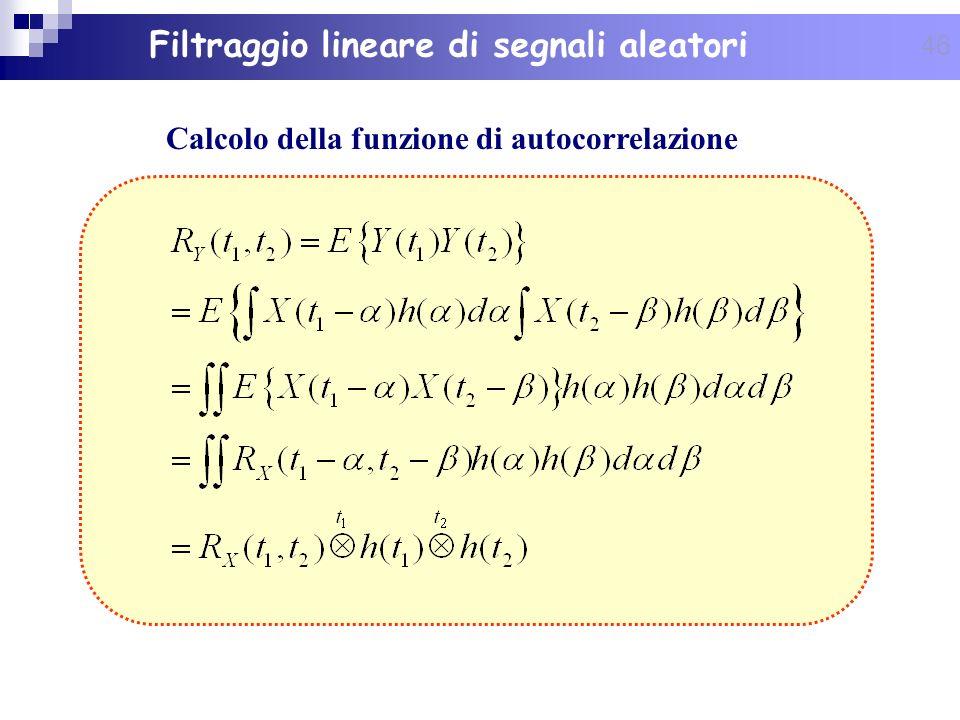 Calcolo della funzione di autocorrelazione