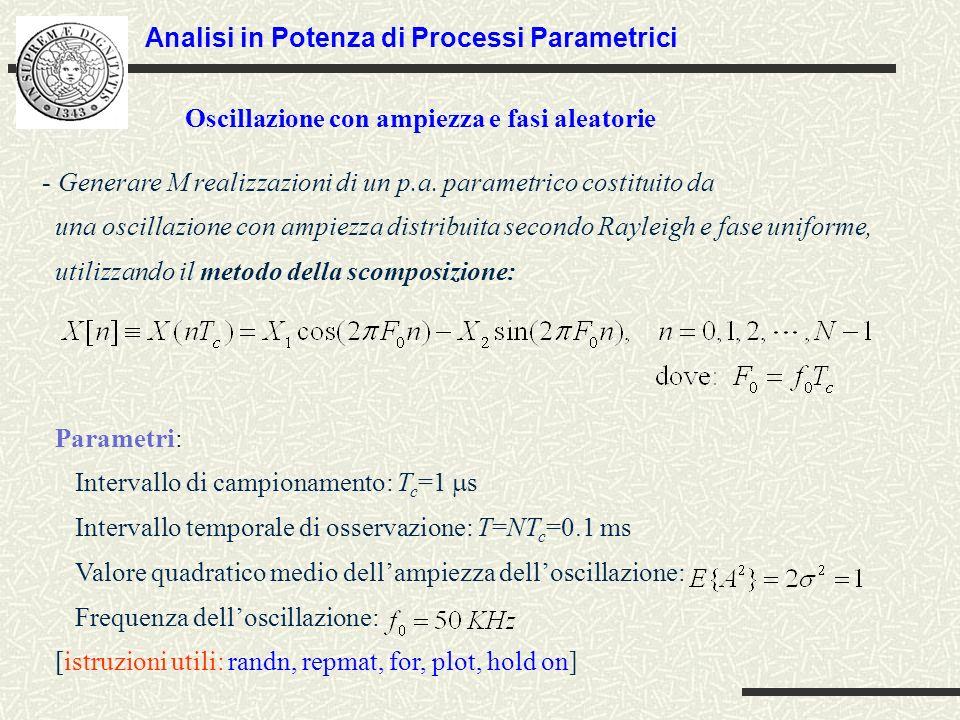 Analisi in Potenza di Processi Parametrici
