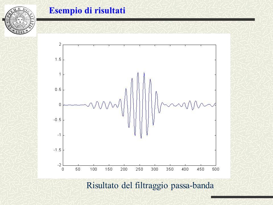Esempio di risultati Risultato del filtraggio passa-banda