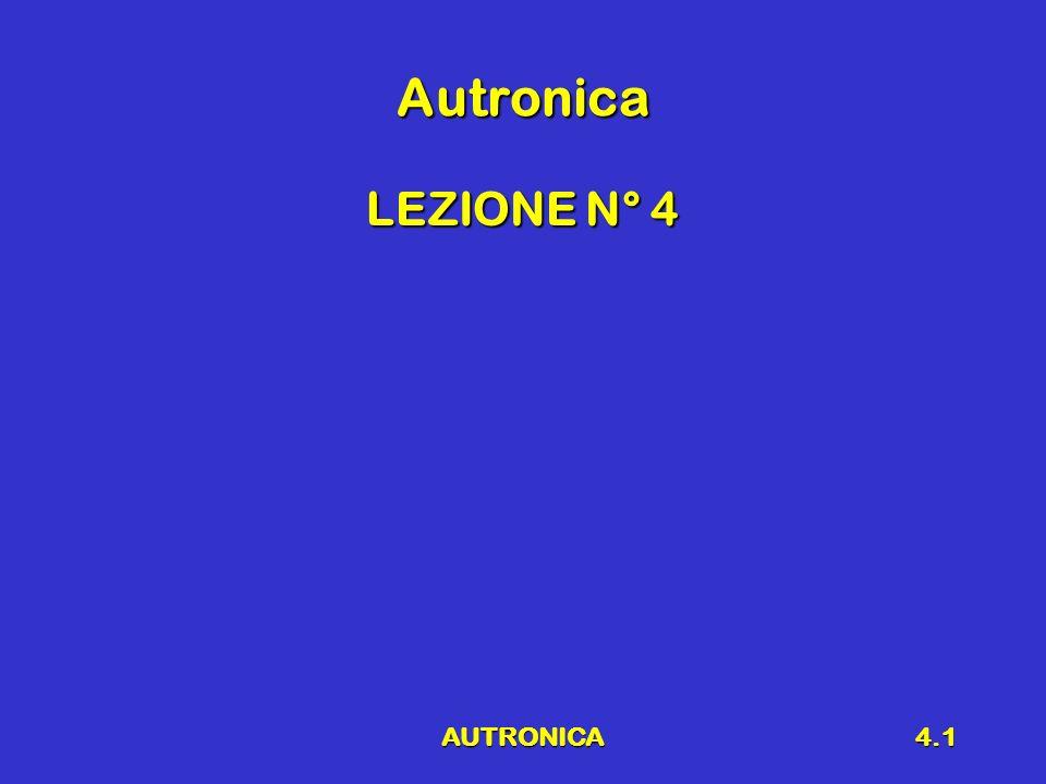 Autronica LEZIONE N° 4 AUTRONICA