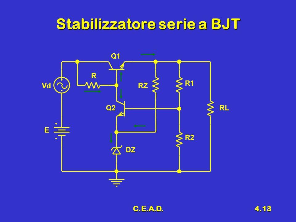 Stabilizzatore serie a BJT