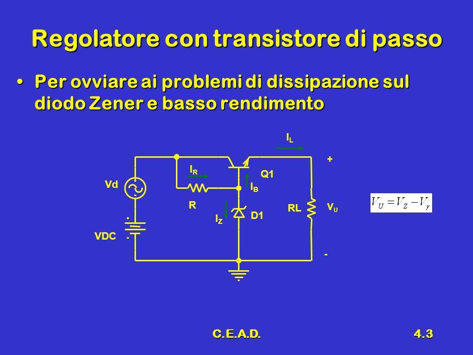 Regolatore con transistore di passo