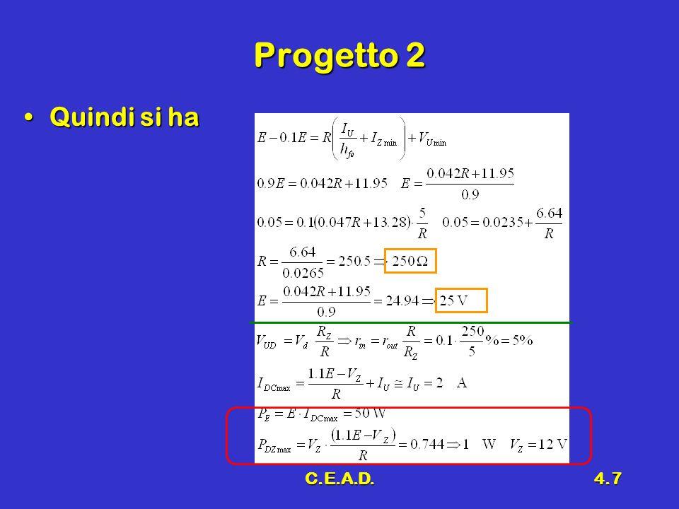 Progetto 2 Quindi si ha C.E.A.D.