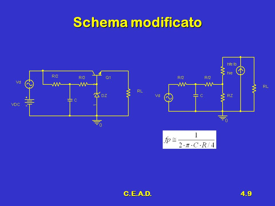 Schema modificato C.E.A.D.