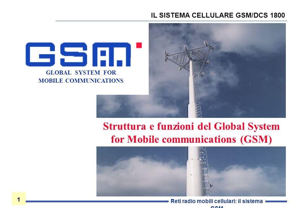 IL SISTEMA CELLULARE GSM/DCS 1800