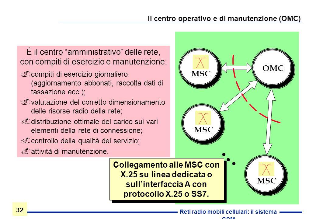 Il centro operativo e di manutenzione (OMC)