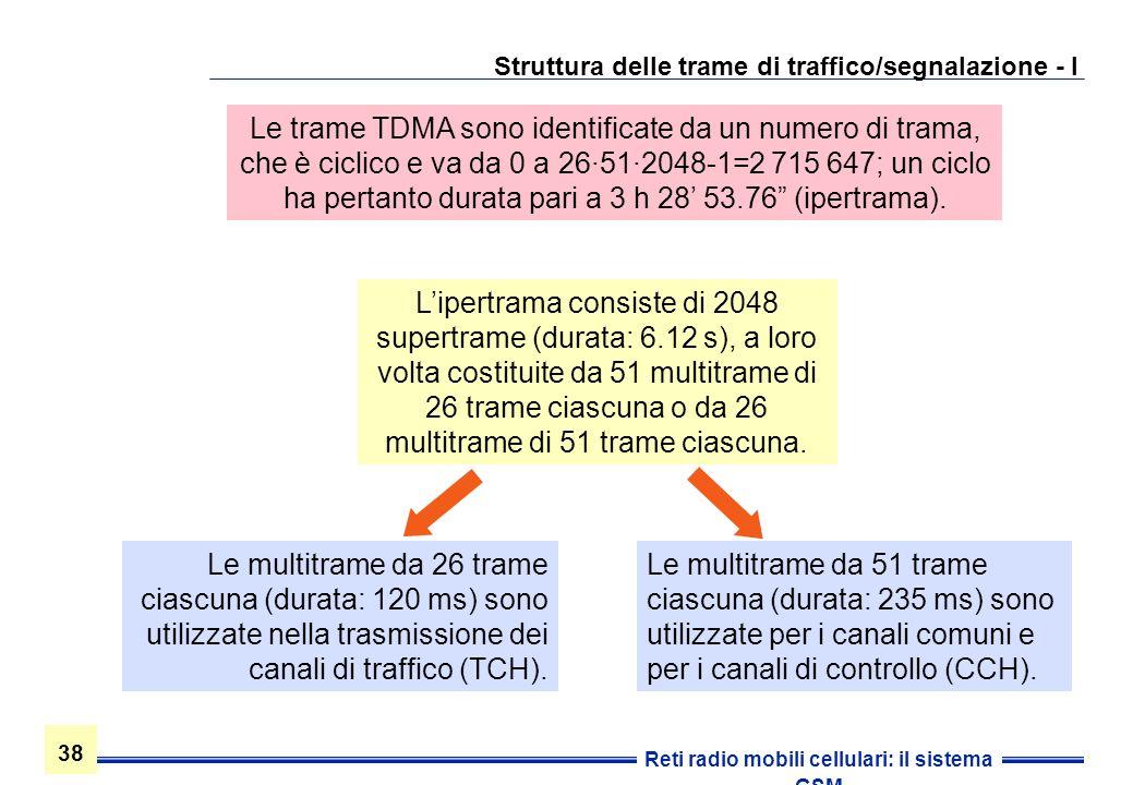 Struttura delle trame di traffico/segnalazione - I