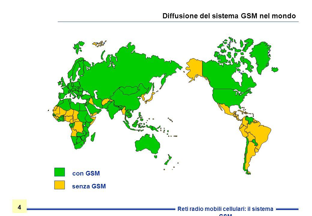 Diffusione del sistema GSM nel mondo