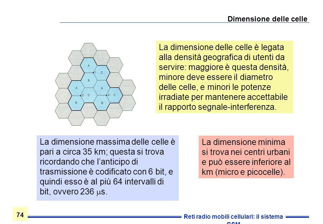 Dimensione delle celle