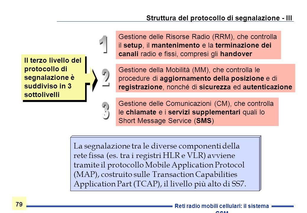 Struttura del protocollo di segnalazione - III