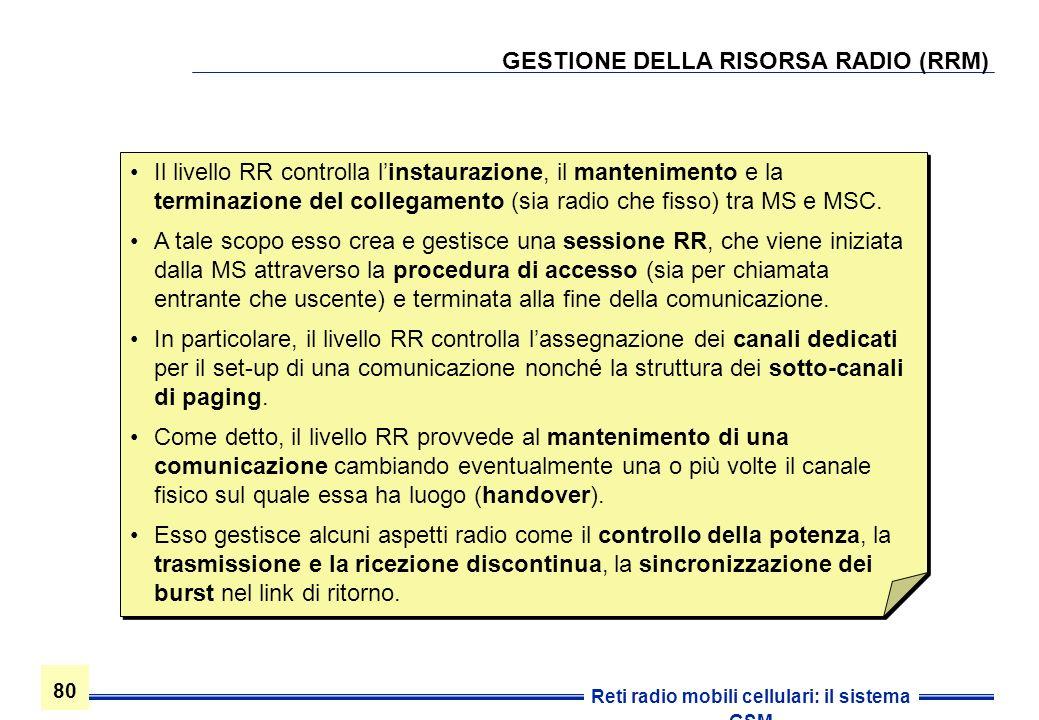 GESTIONE DELLA RISORSA RADIO (RRM)