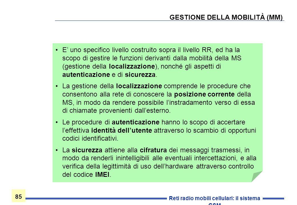 GESTIONE DELLA MOBILITÀ (MM)