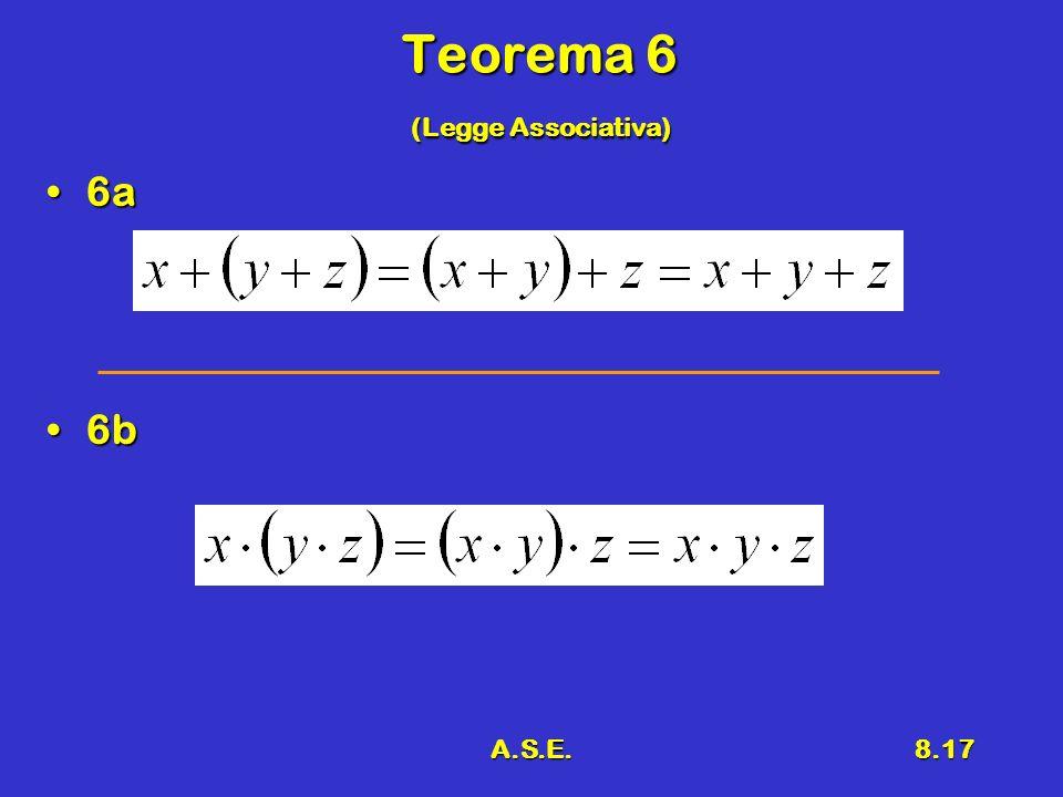 Teorema 6 (Legge Associativa)