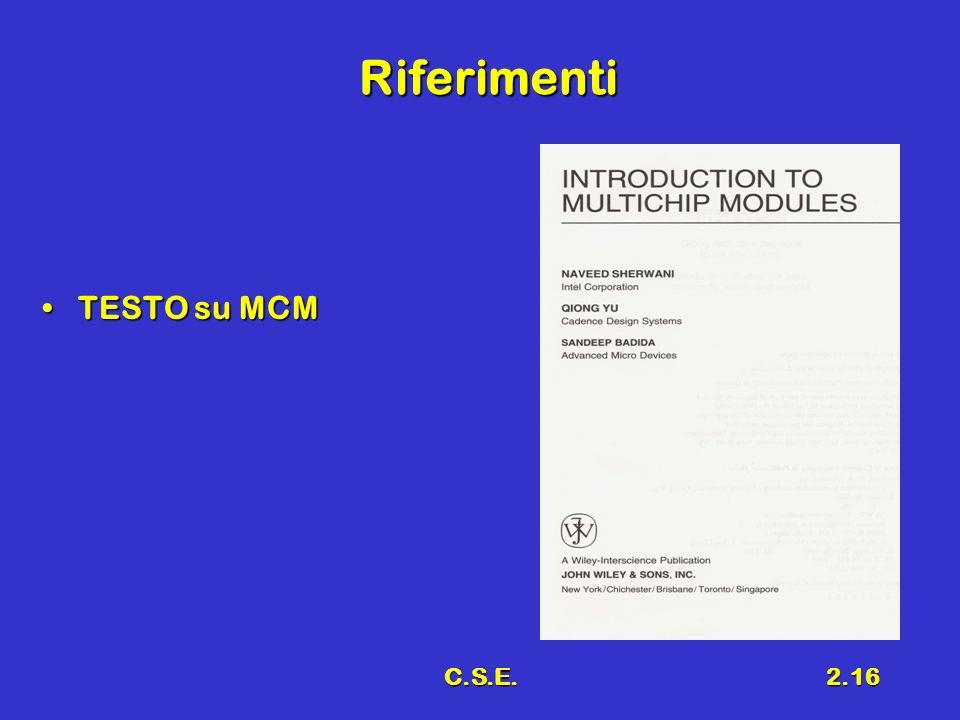 Riferimenti TESTO su MCM C.S.E.