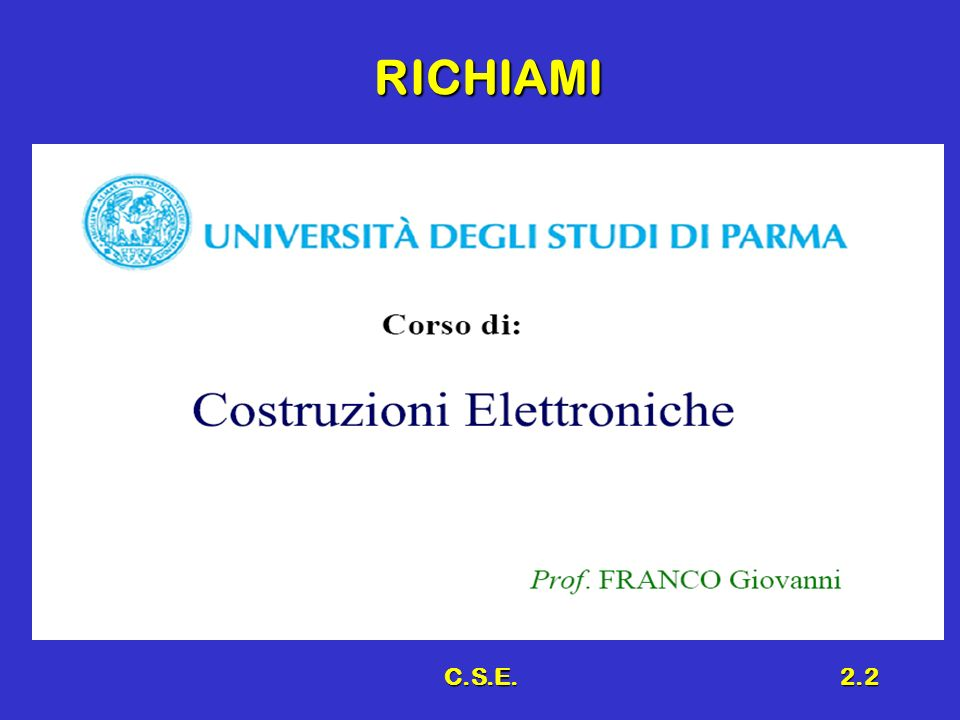 RICHIAMI C.S.E.