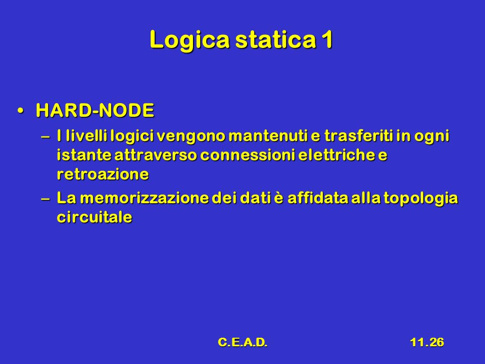 Logica statica 1 HARD-NODE