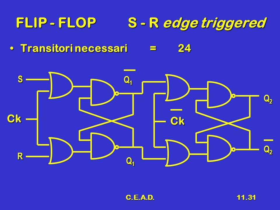 FLIP - FLOP S - R edge triggered