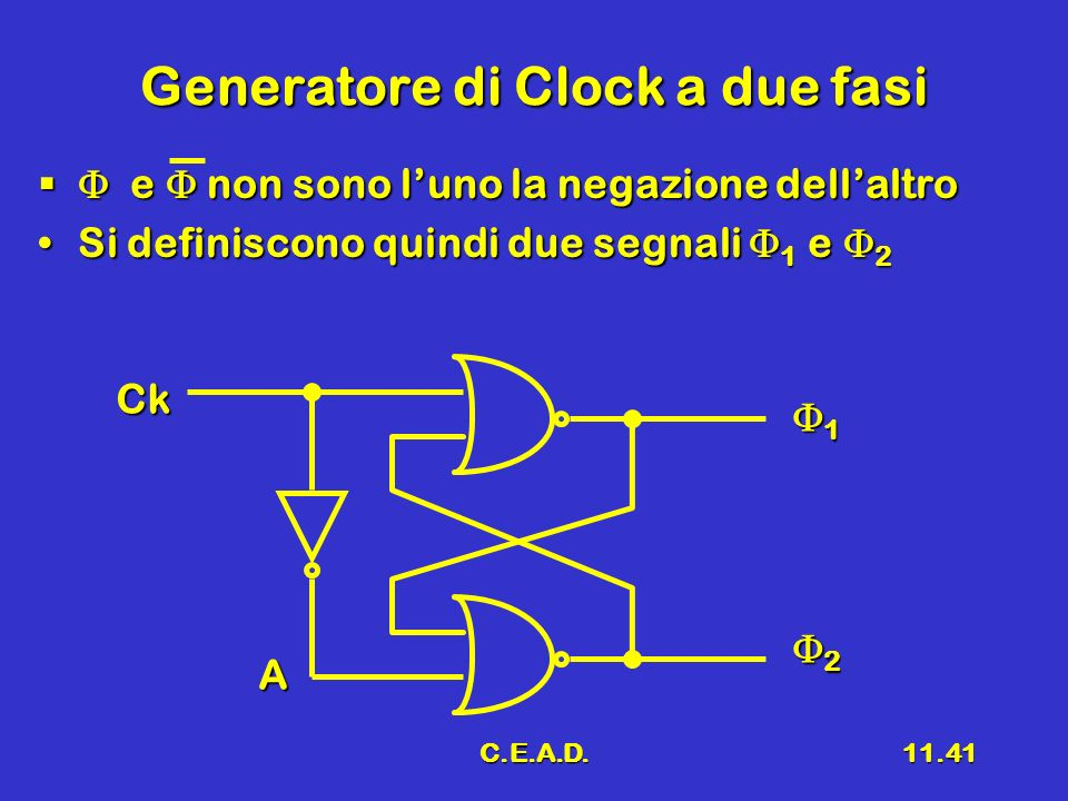 Generatore di Clock a due fasi