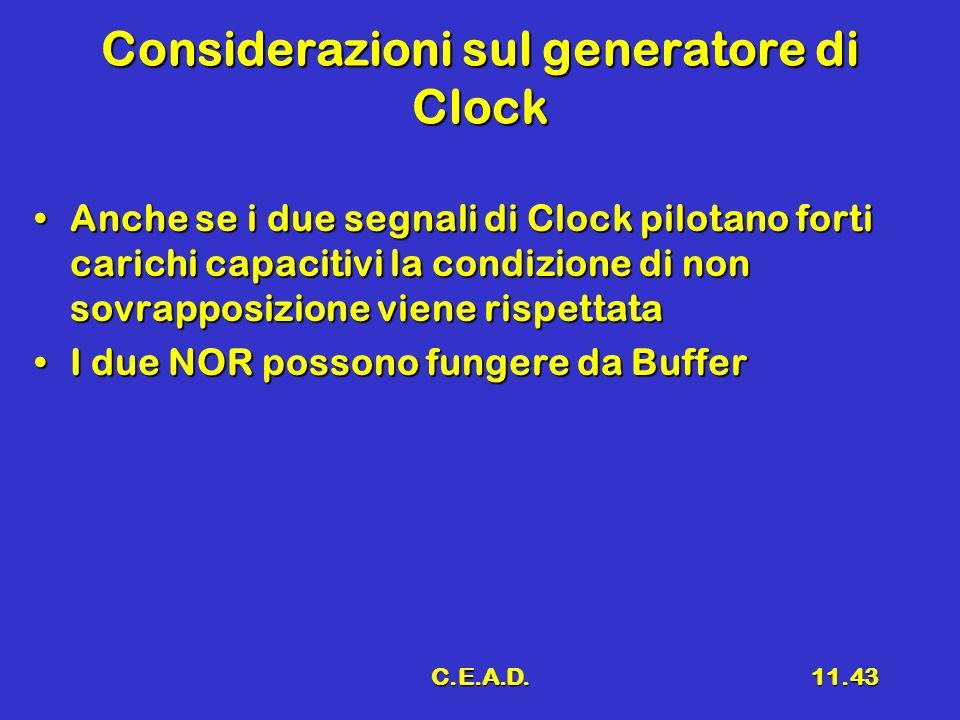 Considerazioni sul generatore di Clock