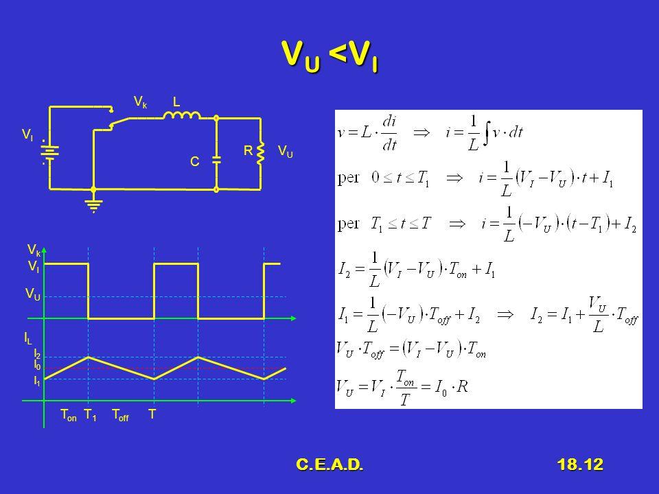 VU <VI VU Vk VI L R C Vk VI VU IL I2 I0 I1 Ton T1 Toff T C.E.A.D.