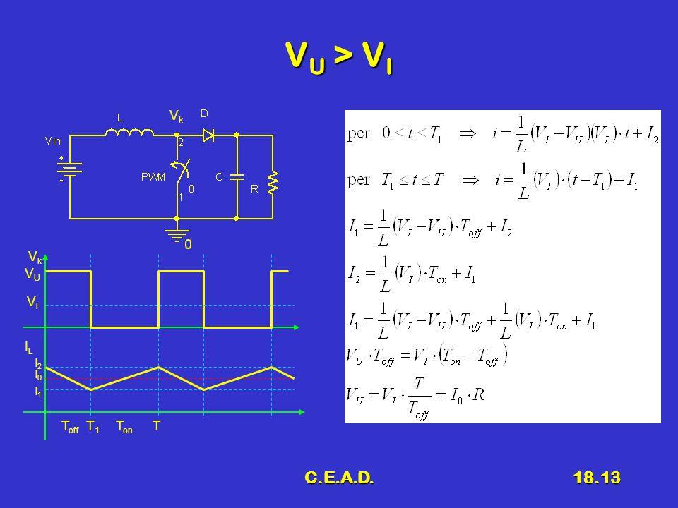 VU > VI Vk Vk VU VI IL I2 I0 I1 Toff T1 Ton T C.E.A.D.